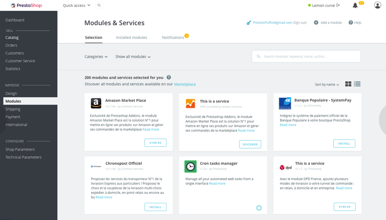modules - Sklep internetowy Prestashop