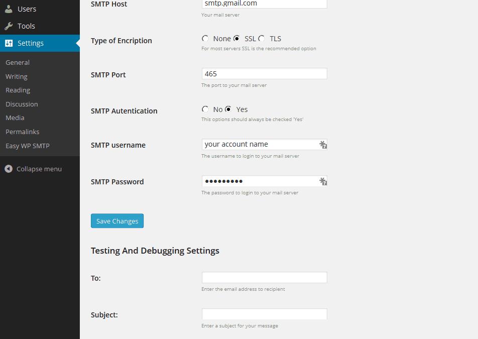 Konfiguracja SMTP w wordpresie dla serwerów home.pl i nazwa.pl