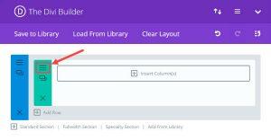 select row settings 300x156 - Jak dodać więcej kolumn w stron Divi